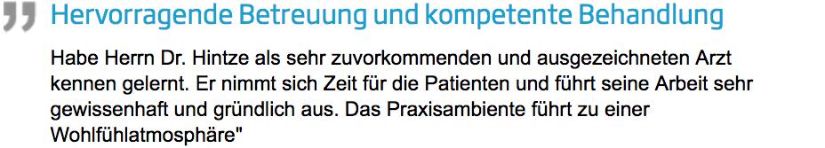 Zahnarzt im Mühlheim am Main: Dr. Hintze - Kundenstimme